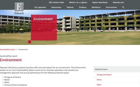 Environment – Edwards – Sustainability