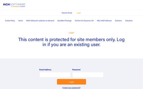 Screenshot of Terms Page highsoftware.com - Login - Highsoftware - captured July 14, 2018