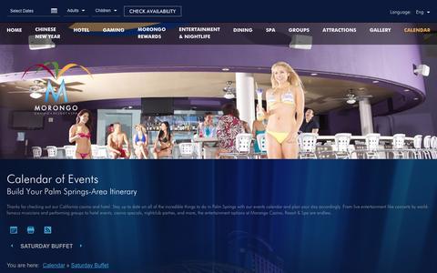 Screenshot of morongocasinoresort.com - Morongo Casino Events | Morongo Casino Resort - captured Feb. 2, 2017