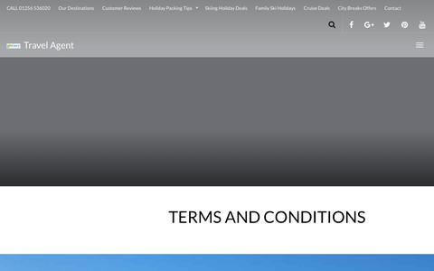 Screenshot of Terms Page goeasy-travel.com - TERMS AND CONDITIONS - GoEasy Travel Agent Basingstoke Hampshire - captured Nov. 5, 2018