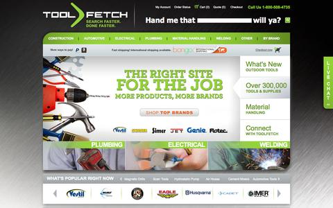 Screenshot of Home Page toolfetch.com - Buy Tools Online | Automotive | Construction | Electrical | Toolfetch - captured Sept. 23, 2014