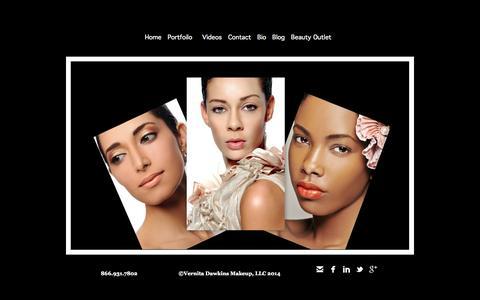 Screenshot of Home Page vernitadawkinsmakeup.com - Washington DC, Maryland, Virginia Makeup Artist for editorial, advertising, video, TV, film, special events - Home Page 301.346.0303/VernitaDawkinsMakeup.com - captured Oct. 7, 2014