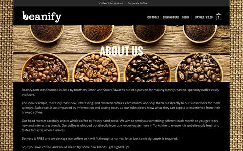 Screenshot of About Page beanify.com - About us - beanify.com - captured Feb. 8, 2016