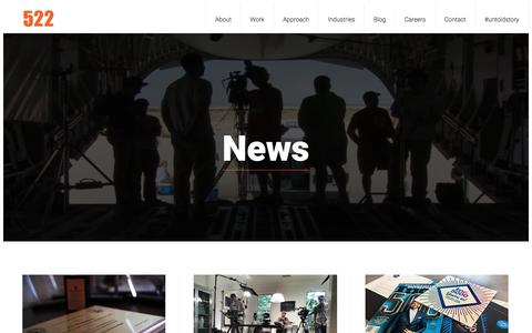 Screenshot of Press Page 522productions.com - News | 522 Productions - captured Aug. 17, 2019