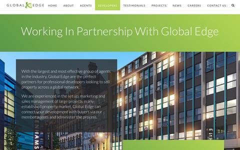 Screenshot of Developers Page globaledge.co.uk - Developers | Global Edge | Property Investment | Property Development - captured Sept. 25, 2018