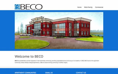 Screenshot of Home Page becoasset.com - Beco Construction and Commercial & Multifamily Property Management | Beco Asset Management in Chesapeake, VA - captured Oct. 5, 2014