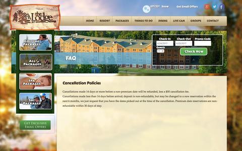 Screenshot of FAQ Page lodgeatgiantsridge.com - FAQ - The Lodge at Giants Ridge - captured April 24, 2017