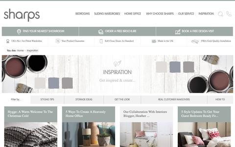 Screenshot of Blog sharps.co.uk - Fitted Bedroom & Fitted Home Office Inspiration - Sharps - captured Dec. 24, 2016