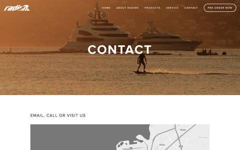 Screenshot of Contact Page radinn.com - Contact — Radinn - captured Dec. 16, 2014