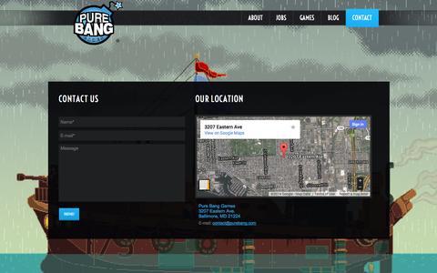 Screenshot of Jobs Page purebang.com - PURE BANG GAMES | VIDEO GAME DEVELOPMENT - captured Oct. 8, 2014