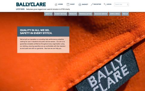 Screenshot of Home Page ballyclarelimited.com - Shop Now-  Ballyclare Limited - captured Sept. 30, 2014