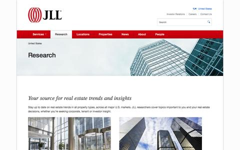 Real estate trends | Jones Lang LaSalle research