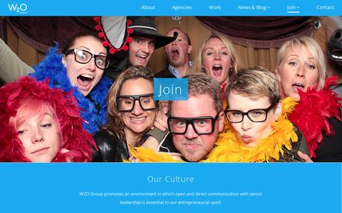 Screenshot of Signup Page w2ogroup.com - W2O Group | Join - W2O Group - captured May 27, 2017