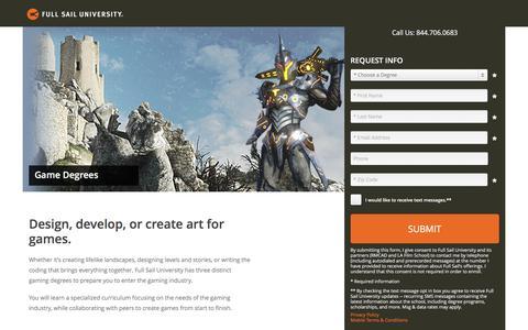 Screenshot of Landing Page fullsail.edu - ion marketing experience platform - captured Oct. 14, 2016