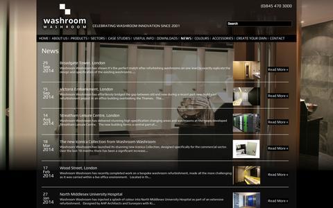 Screenshot of Press Page washroom.co.uk - Washroom    News - captured Oct. 27, 2014