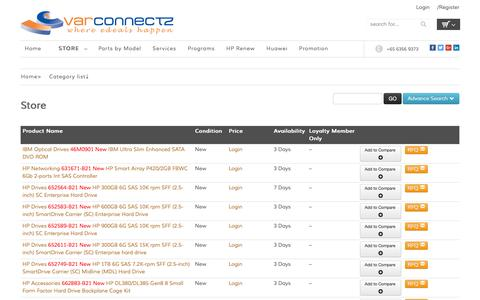 Screenshot of Products Page varconnectz.com - Shop & Buy Branded Computer & IT Products Online - captured Feb. 13, 2016