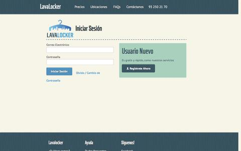 Screenshot of Login Page lavalocker.es captured Sept. 19, 2014
