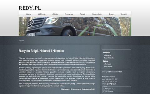 Screenshot of Home Page redy.pl - Busy do Holandii, Belgii, Polska Holandia - Busy Redy.pl - captured Jan. 20, 2016