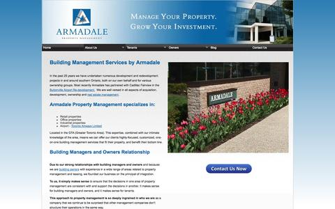 Screenshot of About Page armadalepm.ca - Building Management Services | Armadale Property Management - captured Oct. 4, 2014