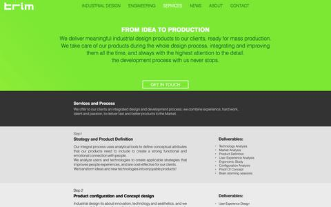Screenshot of Services Page trim-id.com - Trim ID - Industrial Design | Product Design | Product Engineering | Design Concept - captured Nov. 9, 2017