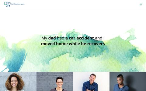 Screenshot of Home Page thecaregiverspace.org - The Caregiver Space, a place for ALL caregivers - captured Sept. 20, 2018