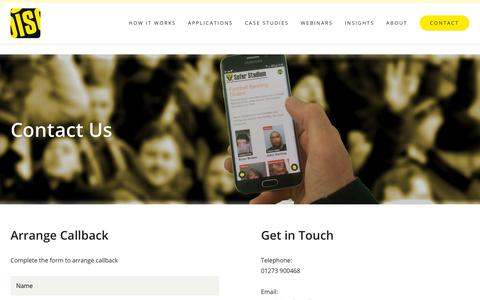 Screenshot of Contact Page littoralis.com - Contact | DISC - captured Dec. 8, 2018