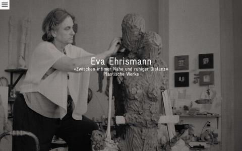 Screenshot of Home Page eva-ehrismann.ch - Home - Eva Ehrismann, Plastische Werke – Skulpturen und Plastiken, Kirchenkunst - captured June 22, 2018