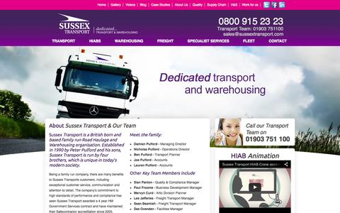 Screenshot of About Page sussextransport.com - About Us - captured Sept. 30, 2014