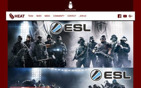 Screenshot of Home Page heat-clan.gr - HEAT Clan - captured June 1, 2016