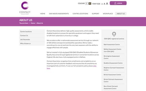 Screenshot of About Page contact-associates.co.uk - About Us | Contact Associates - captured Oct. 3, 2014