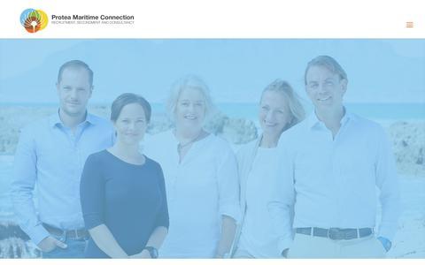 Screenshot of Team Page proteamaritimeconnection.com - Our Team - Protea Maritime Connection - captured May 23, 2017