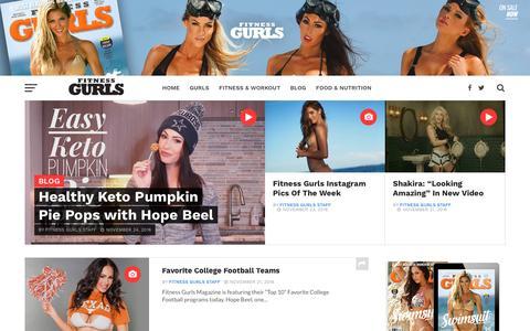 Screenshot of Blog fitnessgurls.com - Blog - Fitness Gurls Magazine / Pop Culture, Interviews, Models & More - captured Nov. 25, 2016