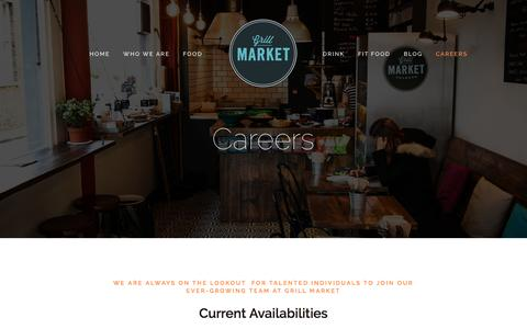 Screenshot of Jobs Page grillmarket.co.uk - Careers — Grill Market - captured July 19, 2016