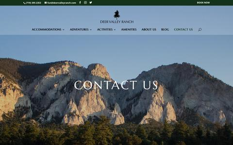 Screenshot of Contact Page deervalleyranch.com - Contact Us | Deer Valley Ranch - captured Aug. 6, 2018