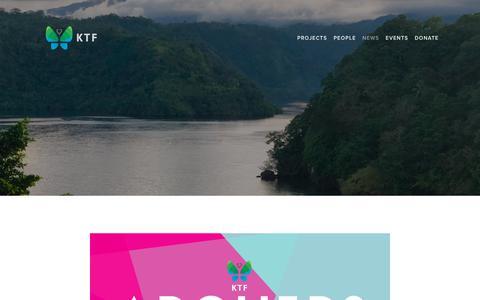 Screenshot of Press Page ktf.ngo - News — KTF - captured Dec. 5, 2018