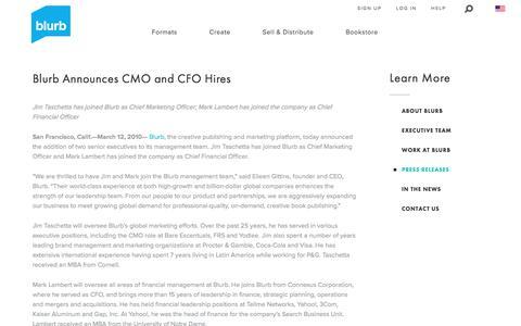 Blurb Announces CMO and CFO Hires
