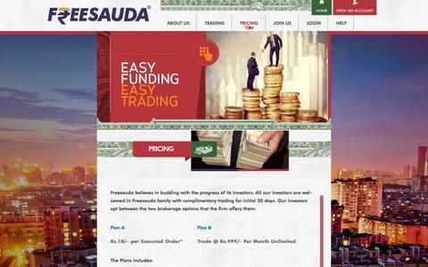 Screenshot of Pricing Page freesauda.com - Pricing   Freesauda - captured Sept. 30, 2014