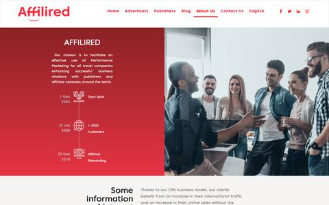 Screenshot of About Page affilired.com - Meet the team behind the Travel Performance Marketing Agency - Affilired - captured Nov. 6, 2018
