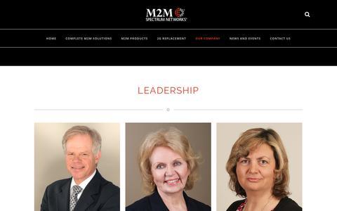 Screenshot of Team Page m2mspectrum.com - M2M Spectrum Networks   –  Leadership - captured Sept. 29, 2017