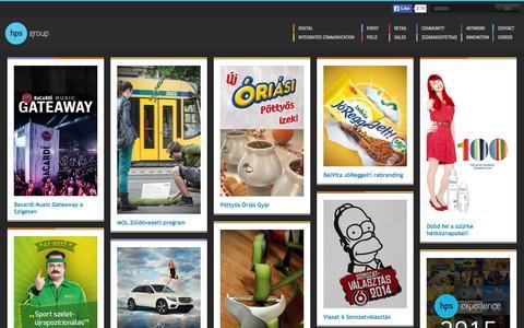 Screenshot of Home Page hps.hu - hps group - captured Nov. 16, 2015
