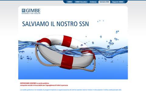 Screenshot of Home Page Site Map Page salviamo-ssn.it - Salviamo il Nostro Servizio Sanitario Nazionale - captured Oct. 21, 2018