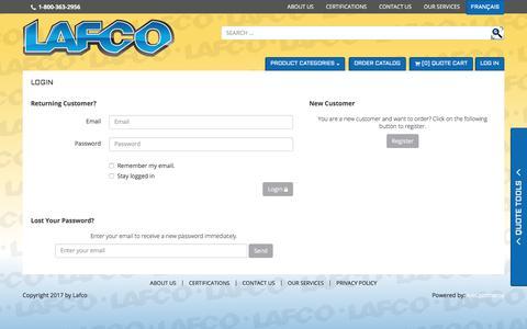 Screenshot of Login Page lafco.ca - Login - captured July 12, 2017