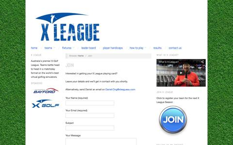Screenshot of Signup Page xleagueau.com - Join - X League - captured Oct. 3, 2014