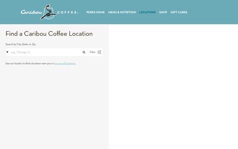 Find a Caribou Coffee near you | Coffee, Tea, Specialty Drinks