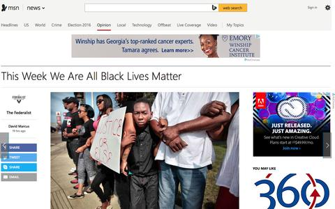 Screenshot of msn.com - This Week We Are All Black Lives Matter - captured July 12, 2016