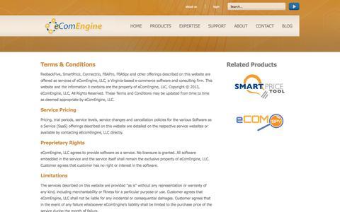 Screenshot of Terms Page ecomengine.com - eComEngine - Terms & Conditions - captured Sept. 19, 2014