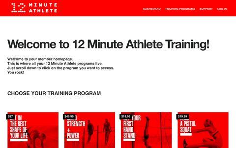 Screenshot of Login Page 12minuteathlete.com - 12 Minute Athlete Training – Unlock Your Potential - captured Nov. 12, 2018