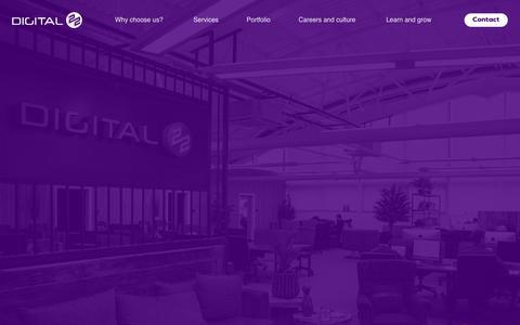 Screenshot of Home Page digital22.com - The UK's #1 HubSpot Inbound Marketing Agency: Digital 22 - captured June 25, 2019