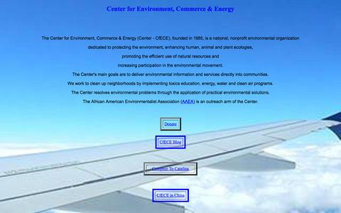 Screenshot of Home Page cfece.org - Center for Environment - captured Sept. 20, 2015