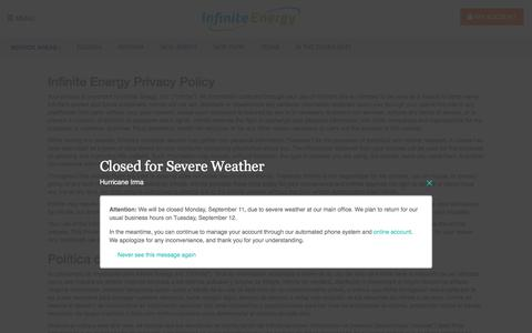 Privacy Policy | Infinite Energy